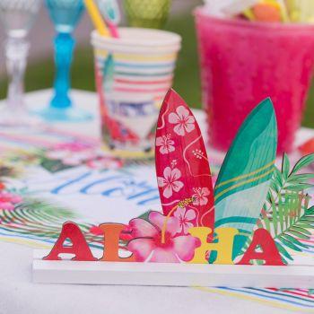 Décoration de table Aloha en bois multicolor