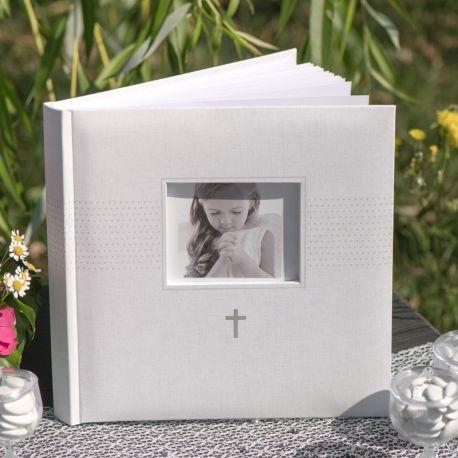 Livre d'or blanc pour garder les messages de vos amis et familles lors de vos soirées anniversaires, mariage, baptême........