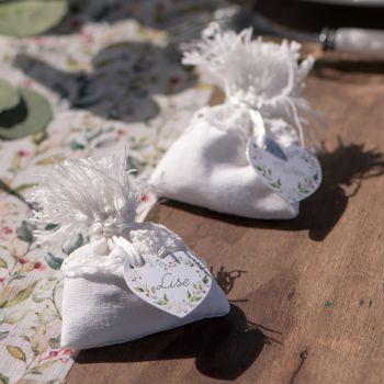 6 Sachets coton Blanc