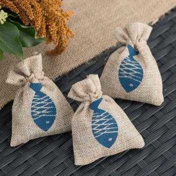 6 Sachets coton naturel Bor de mer