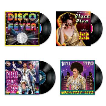 4 Décors pochettes de disques Disco