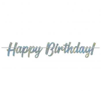 Banderole Happy Birthday pailletée