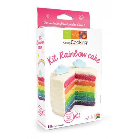 Retrouvez dans ce kit tout le nécessaire pour réaliser un/desrainbow cake(s). Contient 4 sachets de levures colorées, 1...