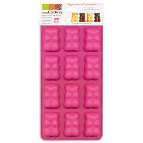 Moule silicone 12 oursons ScrapCooking® Livré avec une carte recette. ScrapCooking® a imaginé pour vous une gamme de moules en...