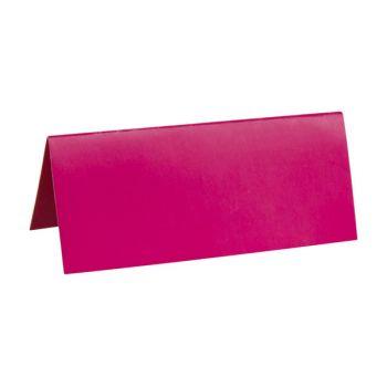 10 Marque-places carton Fuschia