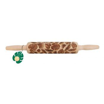 Rouleau empreinte bois feuilles tropicales Scrapcooking