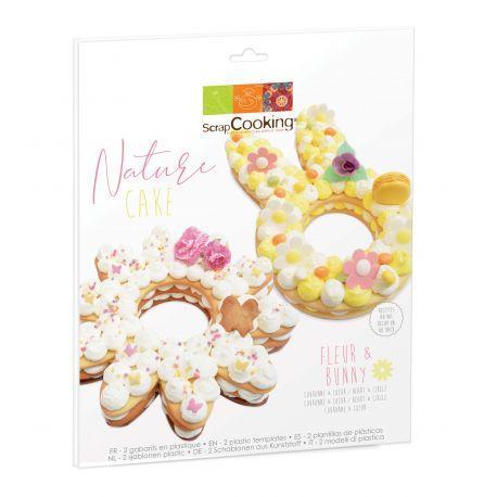 Envie d'un gâteau printanier façon number cake ?Délicieux, léger et tendance le Nature cake sera parfait grâce à ces 2 gabarits en...