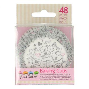 48 Caissettes cupcakes Love nounours