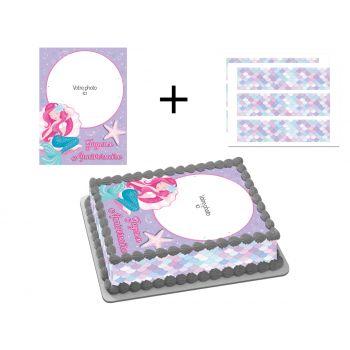 Kit Easycake pour gâteau personnalisé Sirène