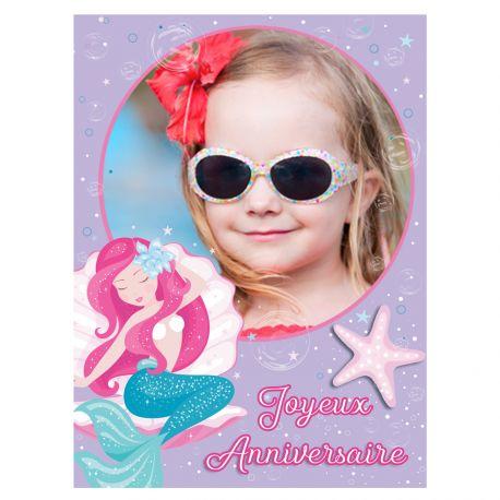 Feuille de sucre à personnaliser décor Sirène au format A4 pour décorer vos gâteaux d'anniversaires. Taille A4 USA ( 21 cm x 27 cm) Peut...