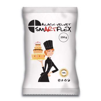 Pâte à sucre Smartflex velour noir 250gr