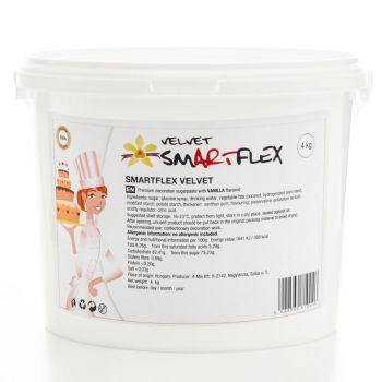 Pâte à sucre Smartflex velour blanche 4KG