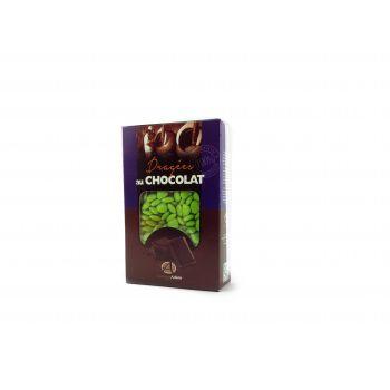 Dragées mini coeur chocolat brillant Vert anis 500gr