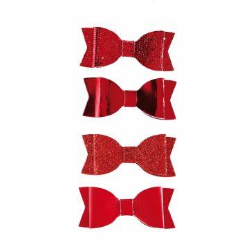4 Noeuds rouge assortis