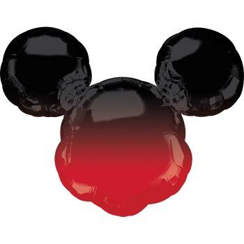 Ballon super Géant Tête de Mickey dégradé rouge