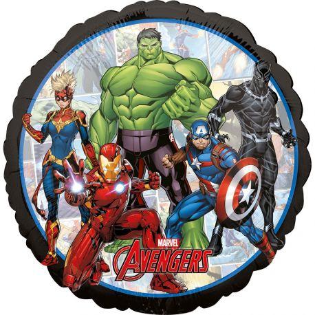 Ballon Avengers hélium en forme de rond pour la deco anniversaire de votre enfant. Ballon pouvant être gonflé avec ou sans hélium à...