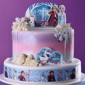 Kit déco gâteau Pop up La Reine des Neiges