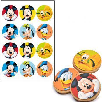 12 mini disque sans sucre Mickey Ø5.5cm