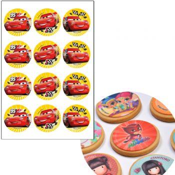12 mini disque sans sucre Cars Ø5.5cm