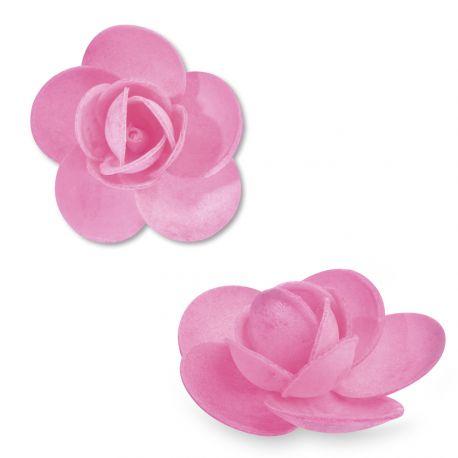 9 Rosesen azyme (papier alimentaire) de couleur rose clair Ces fleurs sont idéales pour décorer vos gâteaux, cupcakes et...