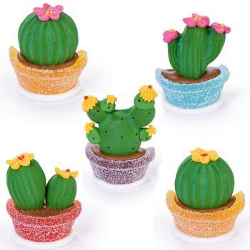 3 Cactus gélifiées en sucre