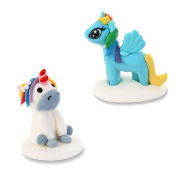 2 figurines Mon Petit Poney en sucre