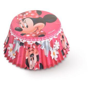 50 Caissette cupcakes Minnie marguerite Ø7cm