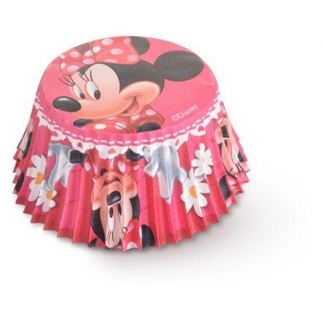 Paquet de 50 caissettes à l'effigie de Minnie marguerite pour réaliser des muffins ou cupcakeA utiliser avec moule à muffins...