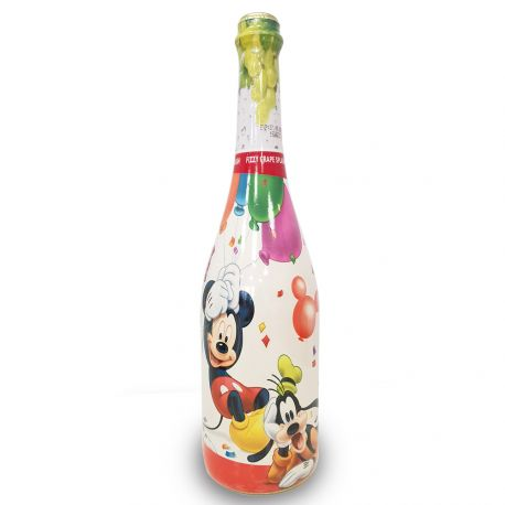 Boisson de fête pétillante sans alcool sur le thème de Mickey Minnie pour faire la fête comme les grandsBouteille de 750 ml au goût...