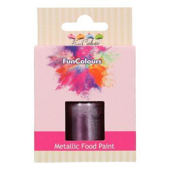 Peinture métallisée alimentaire violet Funcolours