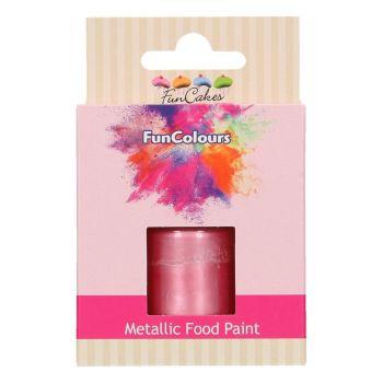 Peinture métallisée alimentaire rose bébé Funcolours