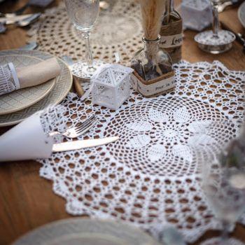 Napperon crochet blanc 30cm