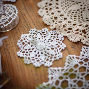 Napperon crochet blanc 10cm