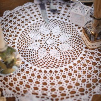 Napperon crochet blanc 50cm