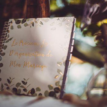 Livre organisation mariage Eucalyptus d'or