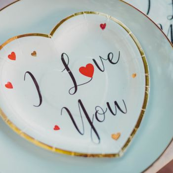 8 Assiettes I Love you or