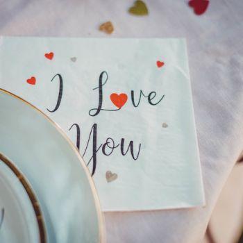 16 serviettes I Love you or
