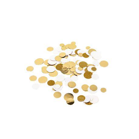 Confettis ivoire, or métallisés et pailleté or à parsemer sur vos tables de fête14gr