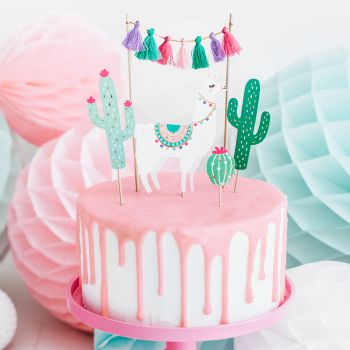 Cake toppers Lama cactus