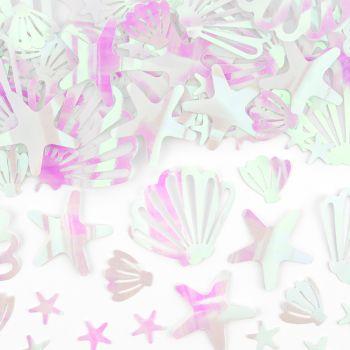 Confettis coquillages irisées