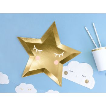 6 assiettes little star or