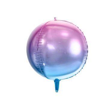 Ballon bulle dégradé bleu et violet