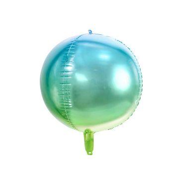 Ballon bulle dégradé bleu et vert