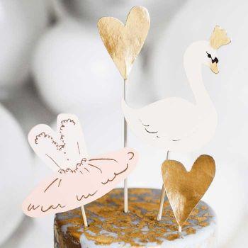 4 Pics déco gâteau Lovely swan
