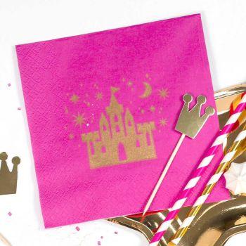 20 serviettes Princess gold
