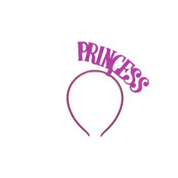 Serre tête Princess fuchsia pailleté