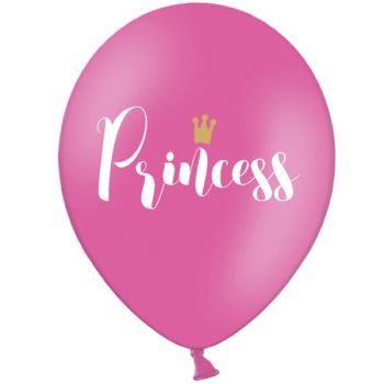 6 Ballons Princess gold