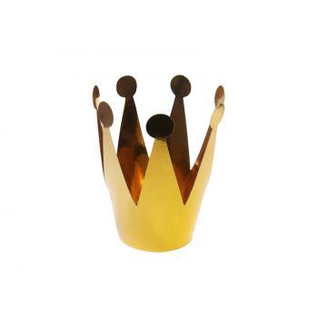 3 Mini couronne or métallisés