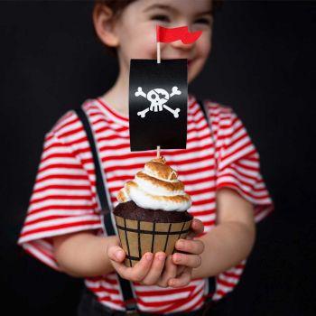 Kit décos 6 cupcakes bateau Pirate