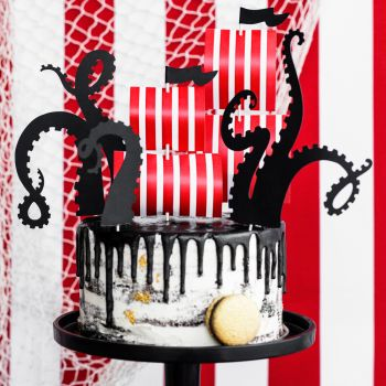 Cake toppers bateau Pirate meduse